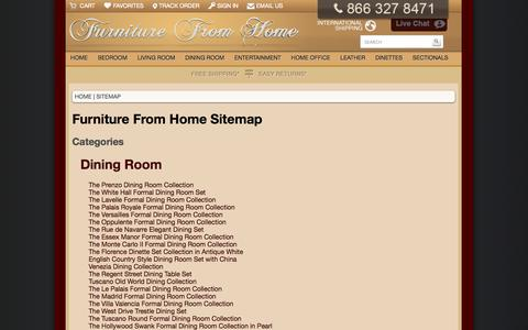 Screenshot of Site Map Page furniturefromhome.com - Sitemap - captured Sept. 22, 2014