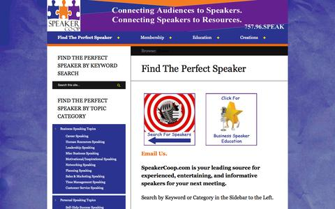 Screenshot of Home Page speakercoop.com captured Oct. 7, 2014
