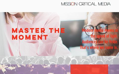Screenshot of Home Page missioncriticalmedia.com - Mission Critical Media: Public Relations & Marketing Chicago, IL - captured June 12, 2017