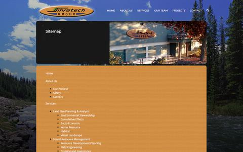 Screenshot of Site Map Page silvatech.ca - Sitemap – Silvatech Group - captured Oct. 21, 2017