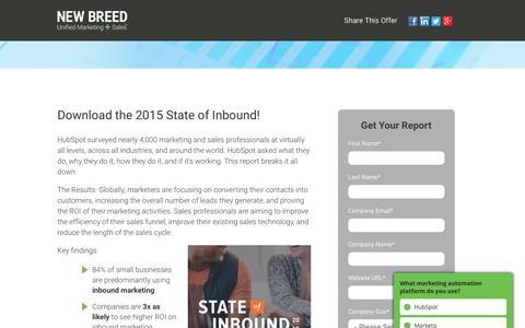 2015 State of Inbound