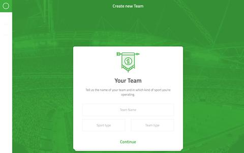 Screenshot of Signup Page spielerplus.de - Create new Team - captured May 30, 2019