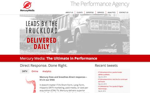 Screenshot of Privacy Page coralactives.com - Mercury Media - The Performance Agency - captured Sept. 30, 2014