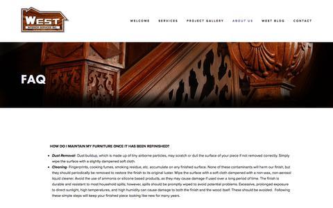 Screenshot of FAQ Page westinteriorservices.com - FAQ — West Interior Services - captured Sept. 20, 2018
