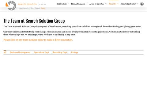 Screenshot of Team Page searchsolutiongroup.com - Team | Search Solution Group Headhunter & Recruiter - captured June 19, 2019