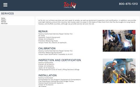 Screenshot of Services Page zoair.com - Zoair - captured Nov. 29, 2016