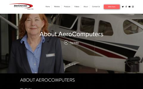 Screenshot of About Page aerocomputers.com - About | Aero Computers - captured Oct. 3, 2018