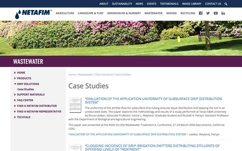 Screenshot of Case Studies Page netafimusa.com - Case Studies - Netafim - captured Oct. 31, 2017