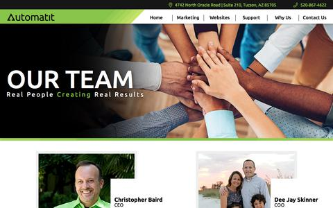 Screenshot of Team Page automatit.net - Meet Our Team | Self Storage Website Marketing | Automatit Inc. - captured Sept. 20, 2018