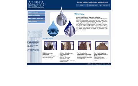 Screenshot of Home Page alpharestoration.com - Alpha Restoration & WaterProofing - captured Feb. 5, 2016