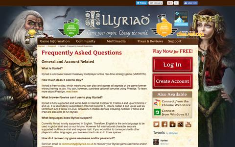 Screenshot of FAQ Page illyriad.co.uk - Illyriad - Frequently Asked Questions - captured Nov. 18, 2016