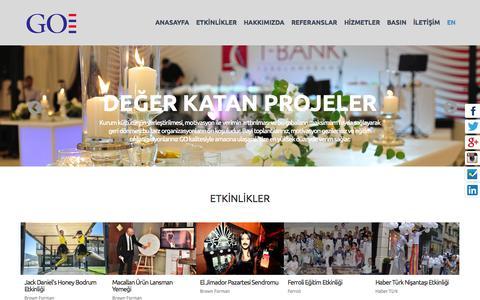 Screenshot of Home Page globalorganizasyon.com.tr - Global Organizasyon - captured Sept. 30, 2014