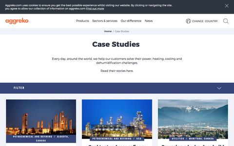 Screenshot of Case Studies Page aggreko.com - Case Studies | Aggreko - captured May 29, 2017