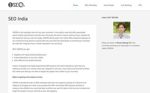 Screenshot of Home Page 1seoin.com - 1SEO IN – SEO INDIA, SEO COMPANY & SEO SERVICES INDIA - captured Aug. 2, 2019