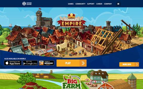 Screenshot of Home Page goodgamestudios.com - Play Online Games For Free | Goodgame Studios - captured July 24, 2015