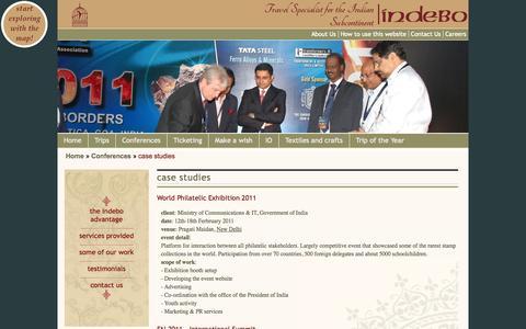 Screenshot of Case Studies Page indebo.com - case studies | Indebo - captured Sept. 30, 2014