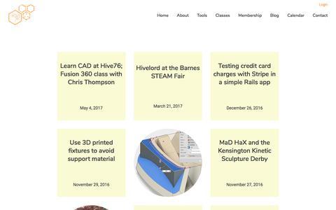 Screenshot of Press Page hive76.org - Blog – Hive76 - captured May 20, 2017