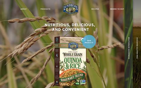 Screenshot of Home Page lundberg.com - Lundberg Family Farms | Lundberg Family Farms - captured Sept. 19, 2014