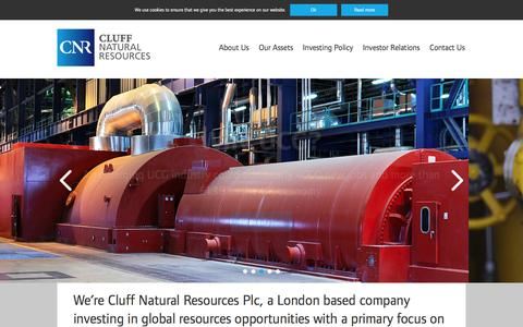 Screenshot of Home Page cluffnaturalresources.com - Home - Cluff Natural Resources - captured Jan. 22, 2016