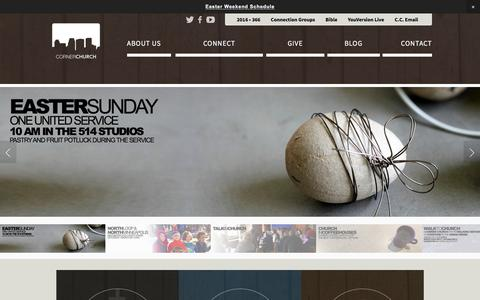 Screenshot of Home Page cornerchurch.tv - Corner Church - captured March 13, 2016