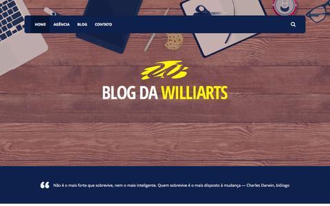 Screenshot of Blog williarts.com - Home - Blog da Williarts - captured March 17, 2016