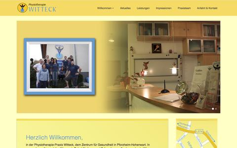 Screenshot of Home Page physiotherapie-witteck.de - Home - captured June 15, 2018