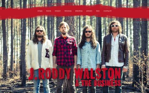 Screenshot of Home Page jroddywalstonandthebusiness.com - J. Roddy Walston & The Business - J. Roddy Walston & The Business - 'Essential Tremors' Out Now! - captured Sept. 25, 2014
