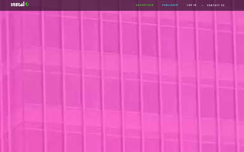 Screenshot of Home Page instal.com - Instal.com - Monetize Your Mobile Traffic - captured Sept. 19, 2014