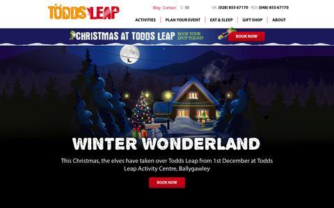 Screenshot of Testimonials Page toddsleap.com - Testimonials Todds Leap - captured Oct. 7, 2014