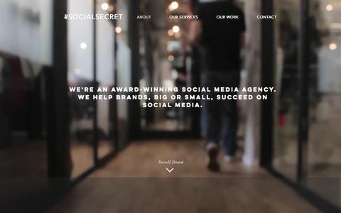 Screenshot of Home Page social-secret.com - Social Media Agency   Bournemouth - captured Nov. 3, 2017