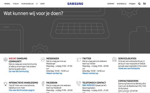 Screenshot of Contact Page samsung.com - Contact us | Samsung NL - captured Sept. 23, 2018