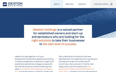 Screenshot of Home Page ideationholdings.com - Ideation Holdings - captured Aug. 18, 2018