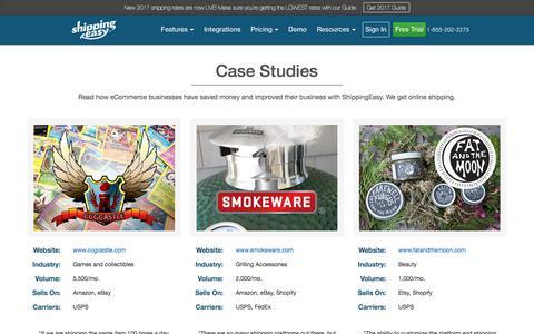 Screenshot of Case Studies Page shippingeasy.com - Case Studies - ShippingEasy - captured Oct. 9, 2017
