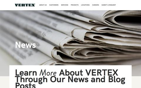 Screenshot of Press Page vertexeng.com - The Vertex Companies, Inc  |  News - captured Dec. 24, 2016