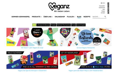 Screenshot of Blog veganz.de - Veganz Blog - Veganz - Wir lieben Leben - captured June 18, 2017