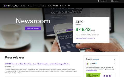 etrade com's Web Marketing Designs | Crayon