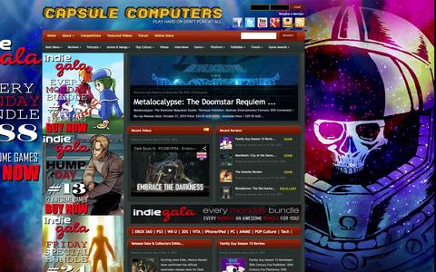 Screenshot of Home Page capsulecomputers.com.au - Capsule Computers - Gaming & Entertainment News, Reviews, Interviews & Competitions | - captured Dec. 7, 2015