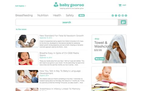 Screenshot of Press Page babygooroo.com - News | baby gooroo - captured Sept. 24, 2014