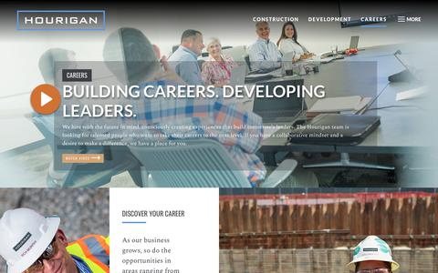 Screenshot of Jobs Page hourigan.group - Construction & Technology Careers in Virginia - Hourigan - captured Dec. 6, 2018