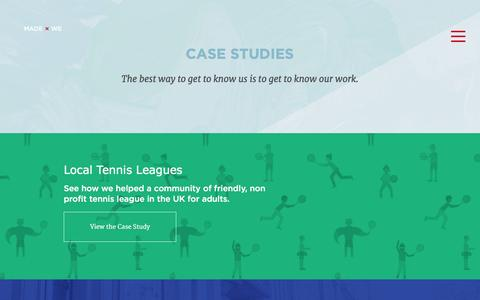 Screenshot of Case Studies Page madebywe.org - Made By We | Case Studies - captured Dec. 20, 2015