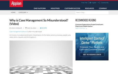 Screenshot of Case Studies Page appian.com - Why is Case Management So Misunderstood? (Video) | Appian - captured June 25, 2018