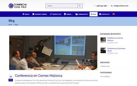 Screenshot of Blog collvila.com - Blog - Comercial Coll Vila - captured July 9, 2017