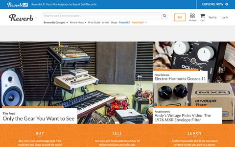 Screenshot of Home Page reverb.com - Buy & Sell Music Gear Online | Reverb - captured June 1, 2018