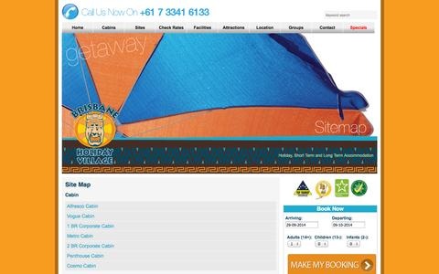 Screenshot of Site Map Page brisbaneholidayvillage.com.au - Site Map | Brisbane Holiday Village - captured Sept. 30, 2014