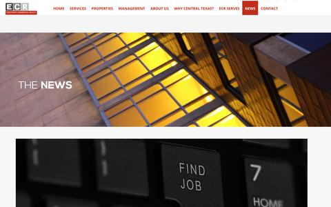 Screenshot of Press Page ecrtx.com - News – Equitable Commercial Realty - captured July 23, 2019