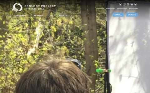 Screenshot of Press Page ecologyproject.org - EPI News - captured Jan. 25, 2016