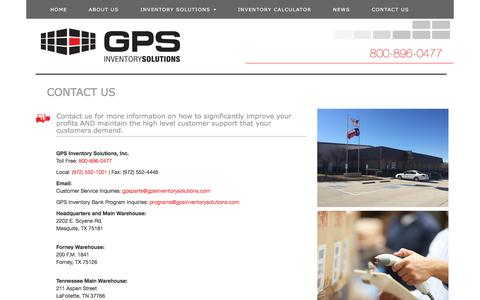 Screenshot of Contact Page gpsinventorysolutions.com - GPS Inventory Solutions, Inc. Excess Inventory Management Solutions - Contact Us - captured July 6, 2018