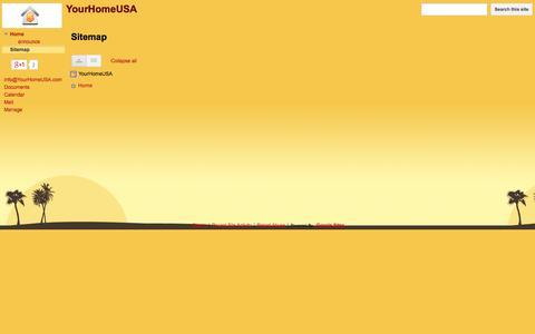 Screenshot of Site Map Page yourhomeusa.com - Sitemap - YourHomeUSA - captured Sept. 30, 2014