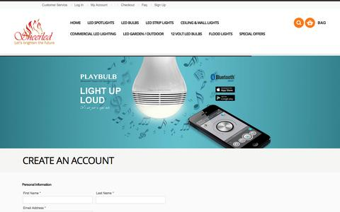 Screenshot of Signup Page sheerled.com - Create New Customer Account - captured Oct. 29, 2014