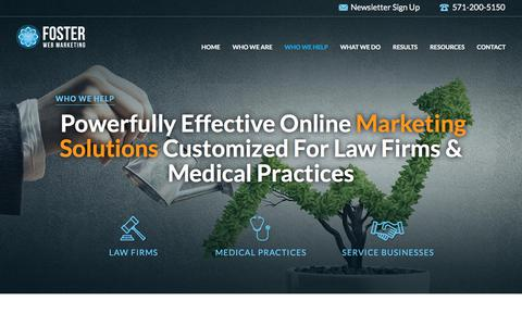 Online Marketing for Law Firms & Medical Practices | Foster Web Marketing